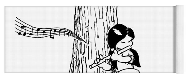 Play The Flute Under The Tree Yoga Mat
