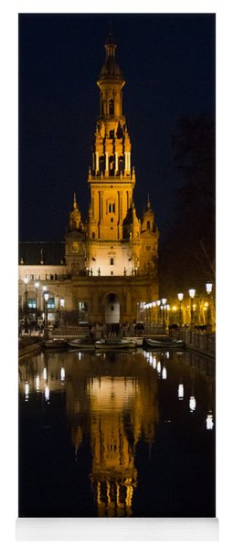 Plaza De Espana At Night - Seville 6 Yoga Mat