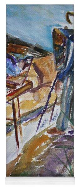 Plein Air Painters - Original Watercolor Yoga Mat