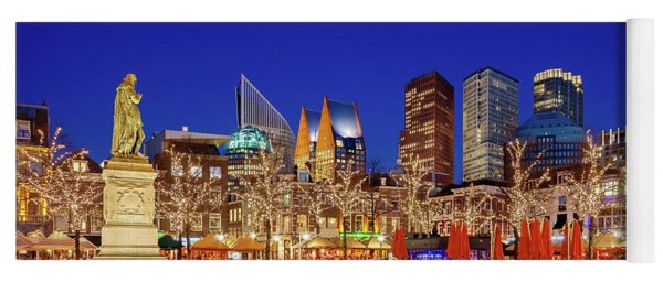 Yoga Mat featuring the photograph Plein At Blue Hour - The Hague by Barry O Carroll