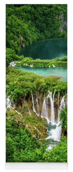 Plitvice Lakes National Park - A Heavenly Crystal Clear Waterfall Vista, Croatia Yoga Mat