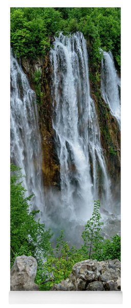 Plitvice Lakes Waterfall - A Balkan Wonder In Croatia Yoga Mat