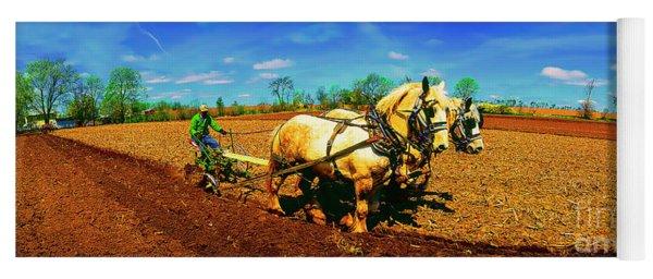 Plow Days Freeport  Il Draft Horses  Yoga Mat