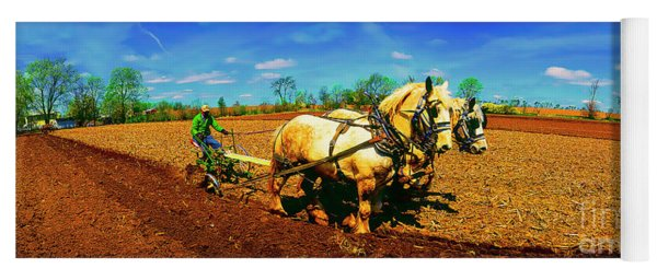 Plow Days Freeport  Il Draft Horses  Yoga Mat