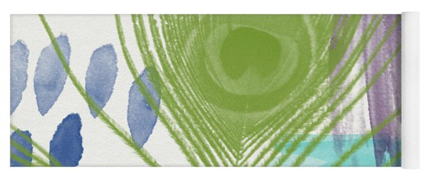 Plumage 4- Art By Linda Woods Yoga Mat
