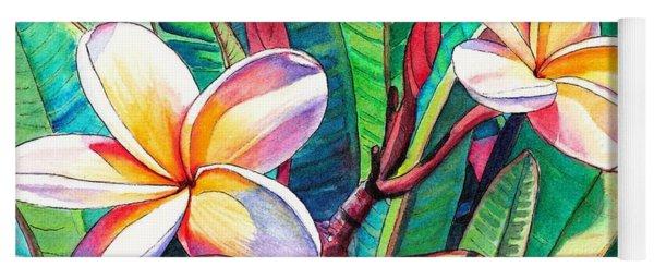 Plumeria Garden Yoga Mat