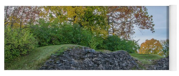 Yoga Mat featuring the photograph Plymouth Meeting - Ancient Lime Kiln by Bill Cannon