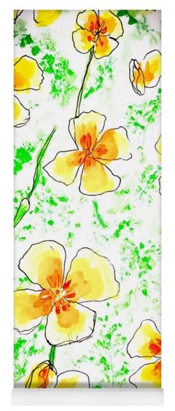Pocket Full Of Poppies Yoga Mat