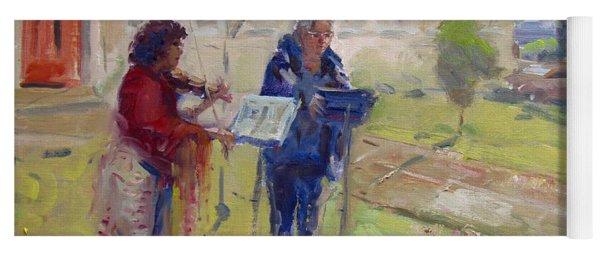 Poetry And Violin Yoga Mat