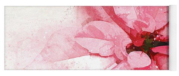 Poinsettia Abstract Yoga Mat