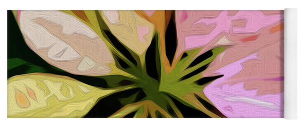 Poinsettia Tile Yoga Mat