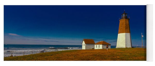Point Judith Lighthouse Yoga Mat