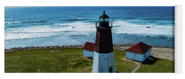 Point Judith Lighthouse Yoga Mat