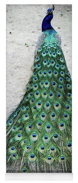 Poised Peacock Yoga Mat