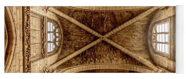 Poissy, France - Ceiling, Notre-dame De Poissy Yoga Mat