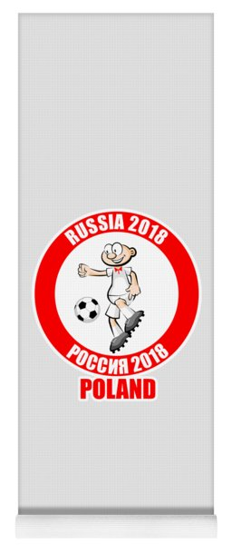 Poland In The Soccer World Cup Russia 2018 Yoga Mat