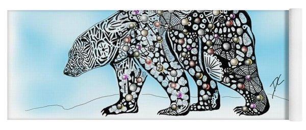 Polar Bear Doodle Yoga Mat