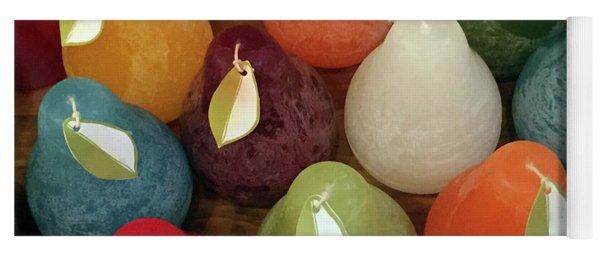 Polychromatic Pears Yoga Mat