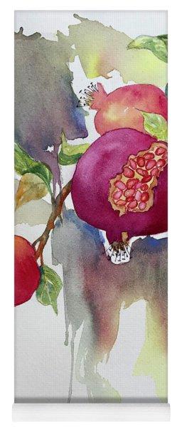 Pomegranates Yoga Mat
