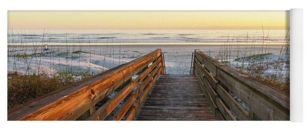 Ponce De Leon Inlet Beach Path Yoga Mat