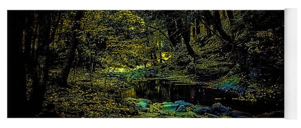 Pond At Night Yoga Mat