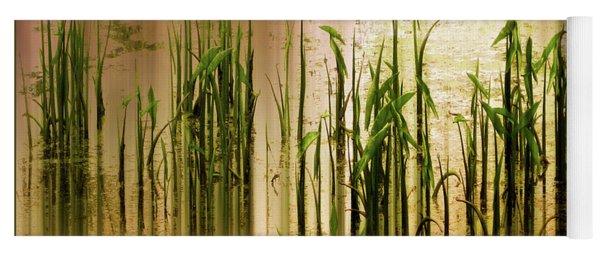 Pond Grass Abstract   Yoga Mat