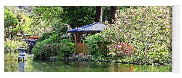 Pond With Pagoda Yoga Mat