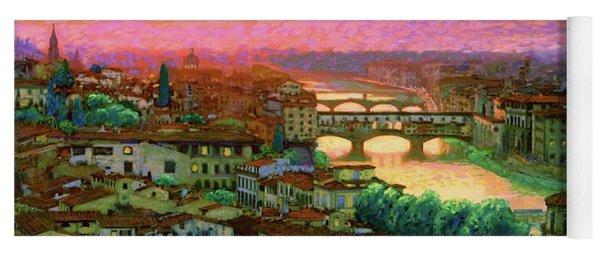Ponte Vecchio Sunset Florence Yoga Mat