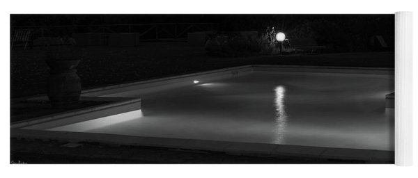 Pool At Night 2 Yoga Mat