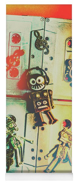 Pop Art Music Robot Yoga Mat