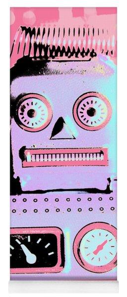 Pop Art Poster Robot Yoga Mat