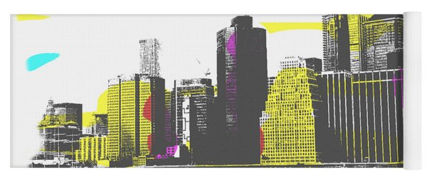Pop City Skyline Yoga Mat