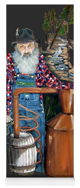 Yoga Mat featuring the painting Popcorn Sutton Moonshiner -t-shirt Transparrent by Jan Dappen