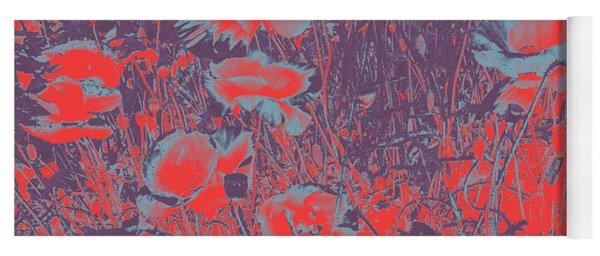 Poppies #4 Yoga Mat
