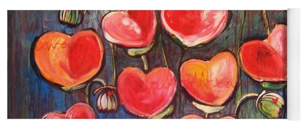 Poppies Are Hearts Of Love We Can Give Away Yoga Mat