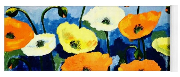 Poppies In Colour Yoga Mat