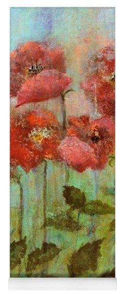 Poppies In Pastel Watercolour Yoga Mat
