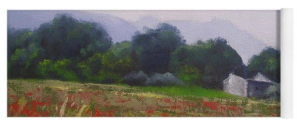 Poppies In Tuscany Yoga Mat
