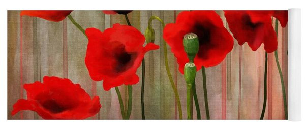 Yoga Mat featuring the painting Poppies  by Ivana Westin