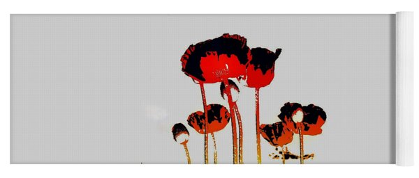 Poppies Pop Yoga Mat