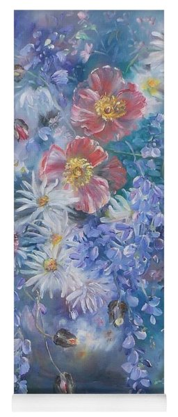 Poppies, Wisteria And Marguerites Yoga Mat