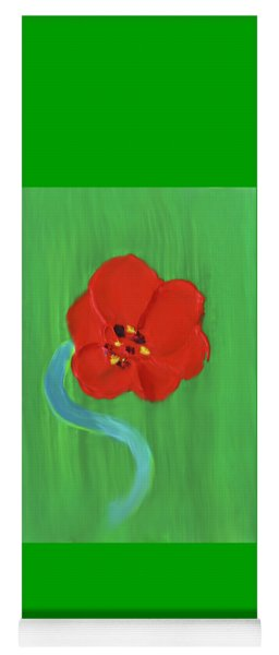 Yoga Mat featuring the painting Popping Poppy 1 by Deborah Boyd