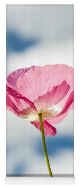 Poppy In The Clouds Yoga Mat