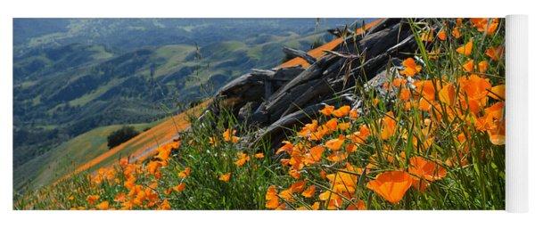 Poppy Mountain  Yoga Mat