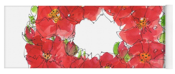 Poppy Wreath Yoga Mat