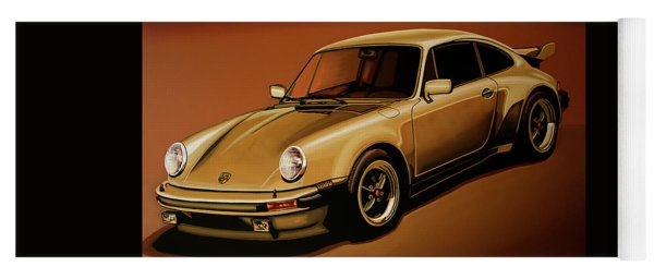 Porsche 911 Turbo 1976 Painting Yoga Mat