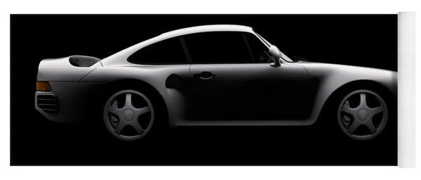 Porsche 959 - Side View Yoga Mat
