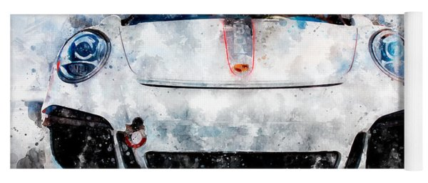 Porsche Watercolor Yoga Mat