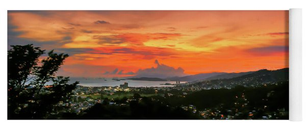 Port Of Spain Sunset Yoga Mat