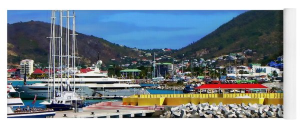 Port Of St. Maarten Yoga Mat